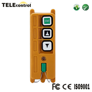 Portible and pocket type Telecrane F21-2D 1 transmitter  2 keys double speed telecontrol wireless remote control transmitter