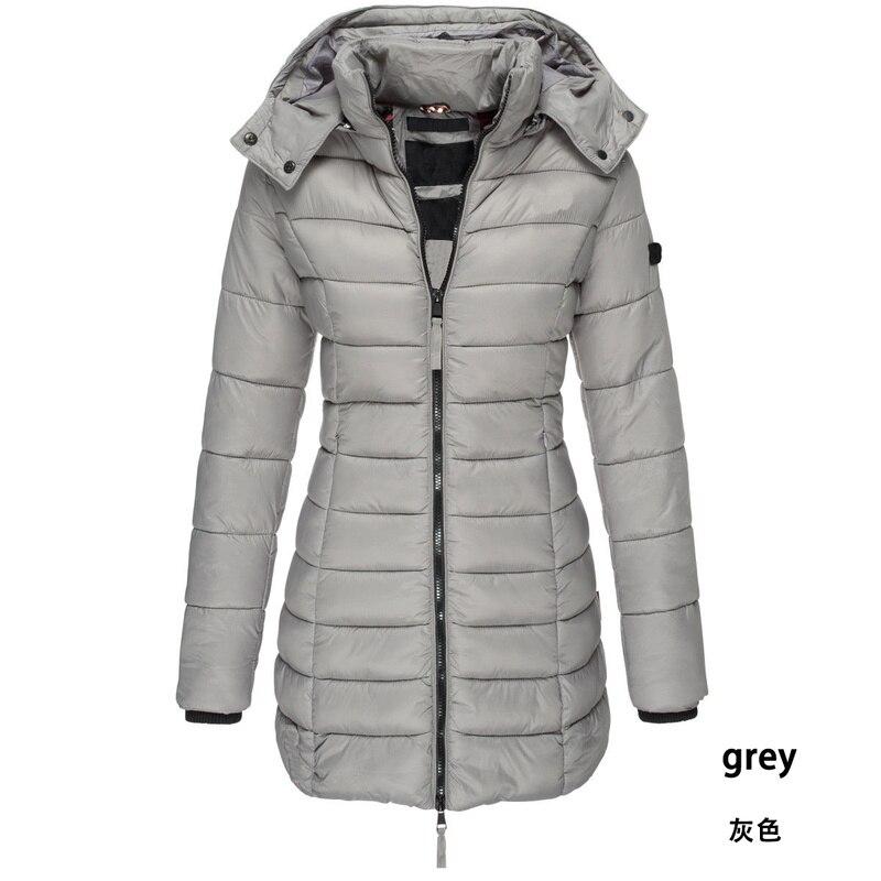 Zogaa Brand Women   Parkas   Winter Jacket Coat Casual Slim Fit Cotton Padded Jacket Long   Parka   Women Wadded Warm Hooded Overcoats