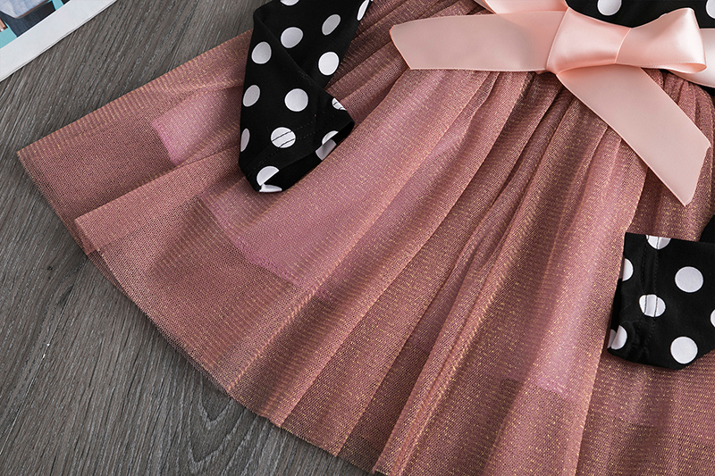 H1c329149d9d94d27a3446e2fb326d40aq 2019 Autumn Winter Girl Dress Long Sleeve Polka Dot Girls Dresses Bow Princess Teenage Casual Dress Daily Kids Dresses For Girls
