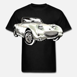 Hombres-camiseta-divertida-manga-corta-de-algod-n-mujeres-camiseta-Austin-Healey-Sprite-1959