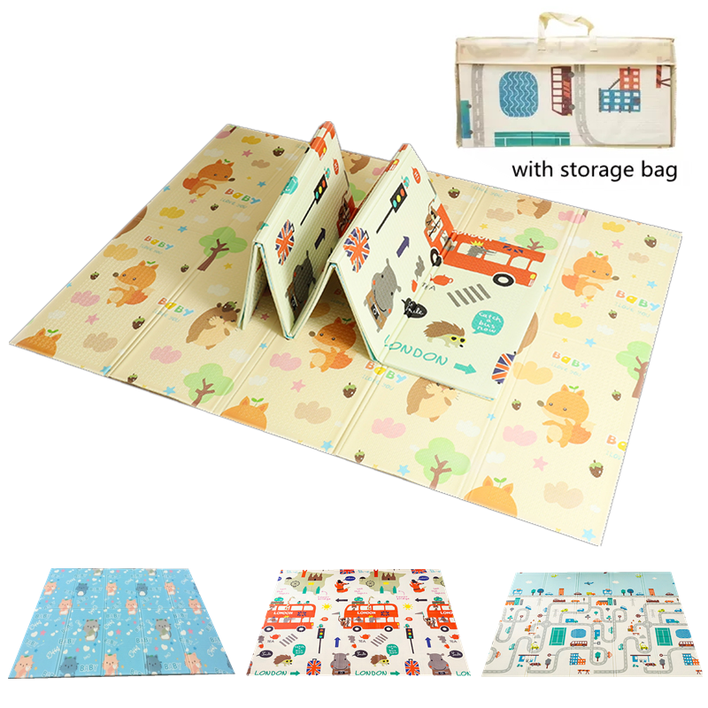 200x150x0.5cm Game Mats Play Mats Baby Crawling Blanket Soft Floor Carpet Folding Kids Rug Playmat Waterproof for Toddler Infant