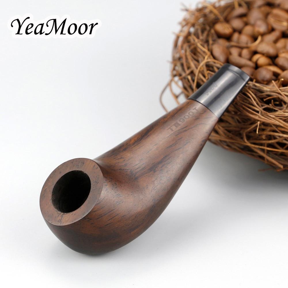 Vintage Mini Ebony Wood Pipe Creative Drumsticks Design Smoking Tobacco 3mm Metal Filter Smoke free tools set