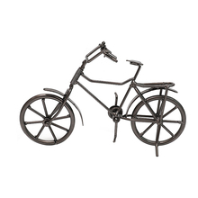 Vintage Metal Bicycle Model Retro Bike Miniature Figurines Children Toy Christmas Gifts Desktop Decoration Home