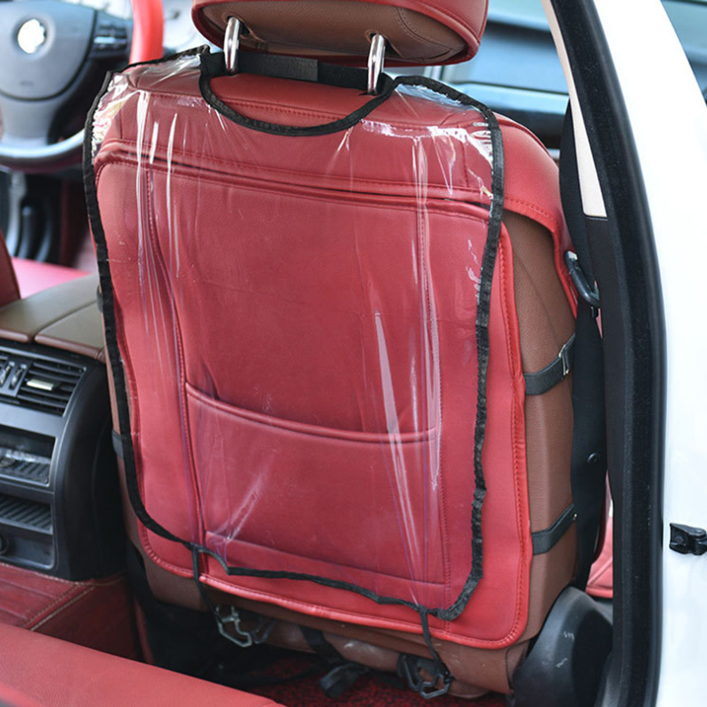 Car Children Anti-Kick Pad Care Seat Protection Backrest Cover Kids Protective Cover Transparent Cleaning Anti-Kick Pad