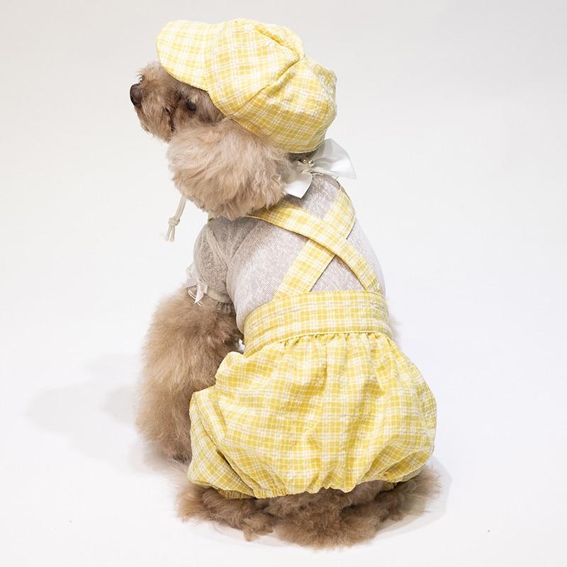 puppy jumpsuit set summer clothes dogs (14)