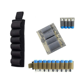 Outdoor 6-Hole Loose Bullets Tactical Velcro 4-Hole Bulk Tool Velcro 9 12G Bullet Bags Hunting Pouch Ammo Cartridge Carrier Bag