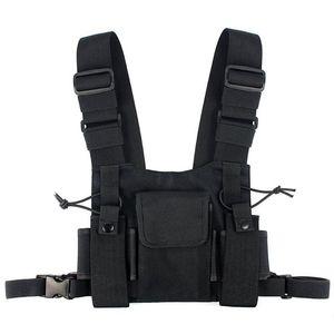 Image 1 - Radios Tasche Radio Brust Harness Brust Vorne Packung Beutel Holster Weste Rig Carry Fall für 2 Way Radio Walkie Talkie für Baofeng U