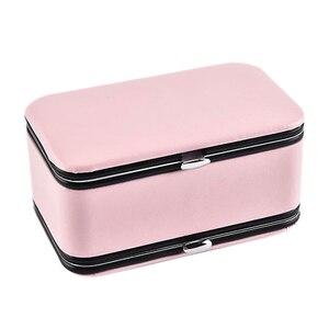 Портативная коробка для хранения ювелирных изделий серьги кольцо серьги многофункциональная коробка ювелирных изделий
