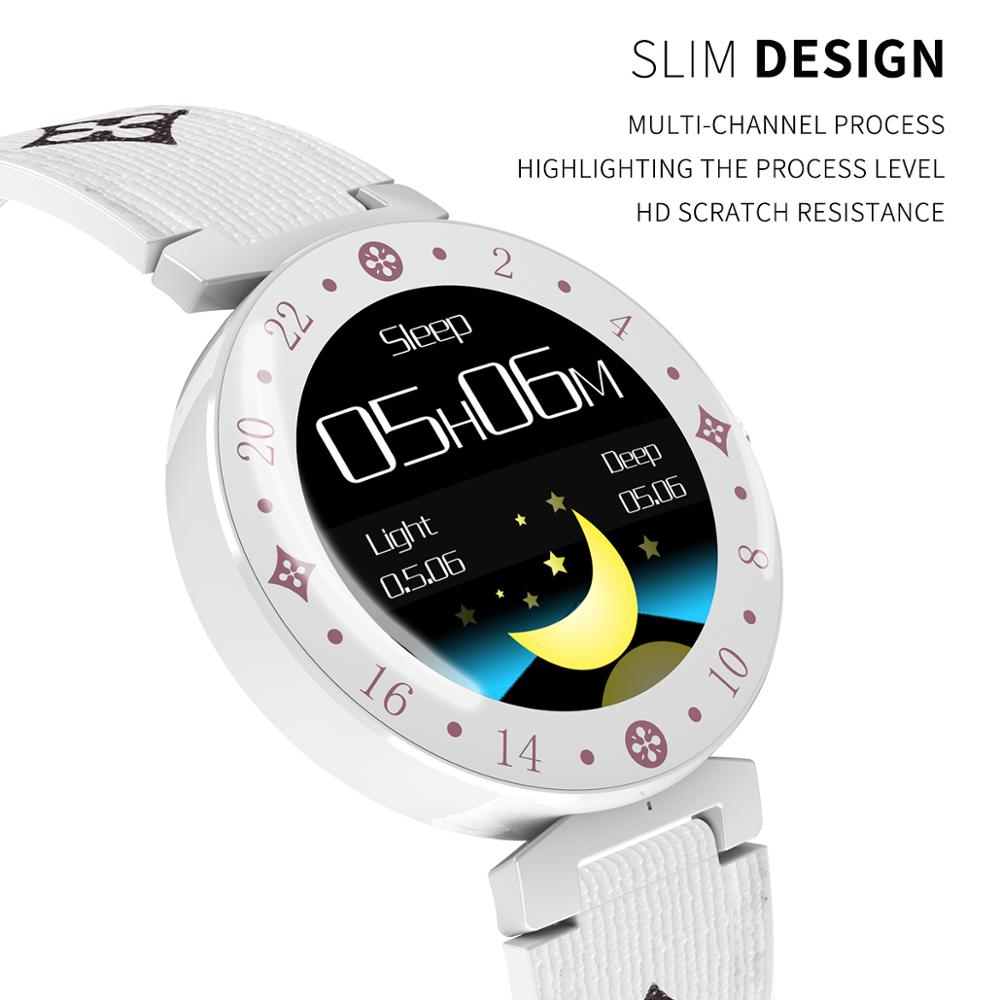 Image 3 - Fashion Noble Women Smart Watch LV88S For Girl gift fitness  Ladies leather Watches Waterproof Smartwatch Woman Clock Android  IOSSmart Watches