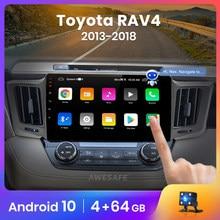 AWESAFE PX9 dla Toyota RAV4 4 2013-2016 2017 2018 2019 Radio samochodowe multimedialny odtwarzacz wideo GPS nie ma 2 din Android 10.0 2GB + 32GB