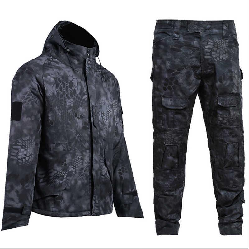 Militaire Uniform Combat Shirt Broek Mannen Leger Camouflage Winter Waterdichte Jas Warme Kleren Tactische Jacht Kleding Vrouwelijke