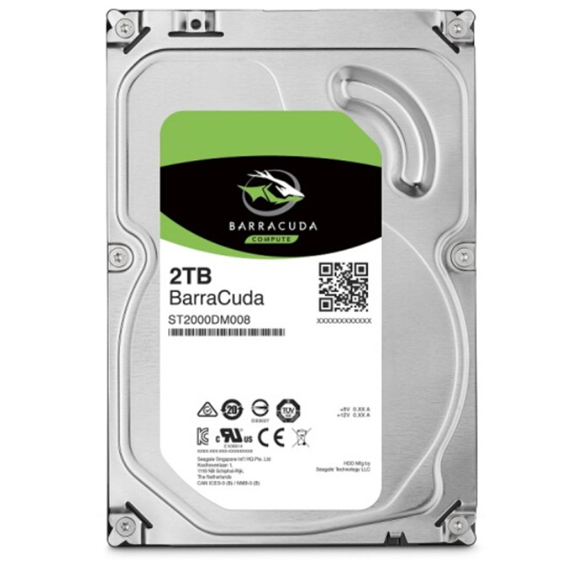 """New HDD For Seagate Brand BarraCuda 2TB 3.5"""" SATA 6 Gb/s 256MB 7200RPM For Internal Hard Disk For DesktopHDD For ST2000DM008 4"""