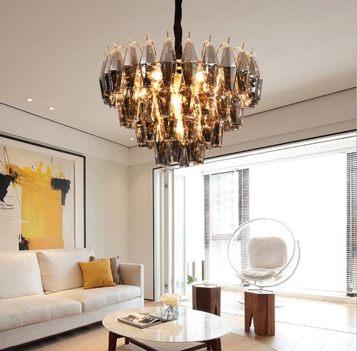 Postmodern Creative Chandelier Diamond Glass Chandelier Neoclassical Duplex Villa Hotel Model House Creative Lamps