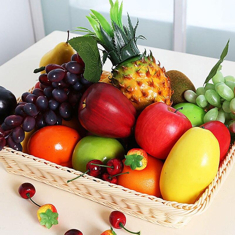 Artificial Decorative fruit Apple pears Plastic Home Garden House Kitchen