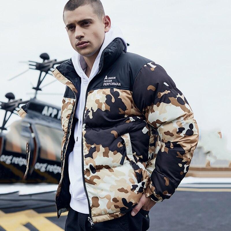Winter Jacket Hooded Long Sleeve Warm Men Thicken Camo ParkasJaqueta Masculina