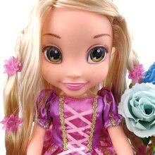 Disney Tangled Rapunzel Long Hair Princess Figurine Dolls Toys PVC Action Figure Collectible Model Toy Kids Gift 38cm недорого