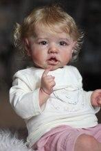 Комплект реборн NPK Saskia 22 дюйма с зубцами, дизайн Бонни, реалистичный новорожденный, смайлик, девочка, Мэдди, виниловые неокрашенные необрабо...