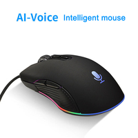 Voice Control Mouse Wired Mice Input Search Translation Mice for PC Computer with LED Light AS99
