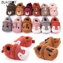 цены Famous Brand Shoe Newborn Baby Girl Shoes Infant Cartoon Loafers 1 Year Old Soft Sole Slip on Crib Shoes Toddler Boy Slippers