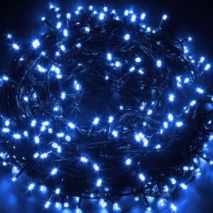 Image 4 - 10M 20M 30M 100M Wasserdichte LED Fairy String Lichter Girlande Weihnachten Party Hochzeit Weihnachten Urlaub Lichter outdoor Home Dekoration