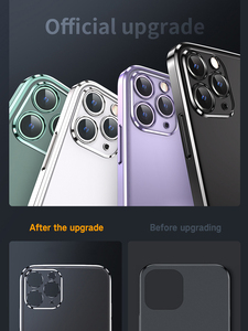 Image 5 - Luxury Square Frame Plating Clear Phone Case For iPhone 12 11 Pro Max Mini X XR XS 7 8 Plus SE 2020 Transparent Silicone Cover