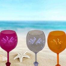 Красивый пляжный стеклянный плавающий пивной стеклянный стакан, акриловый коктейль для уличного питья, Небьющийся бокал для вина, es бассейн