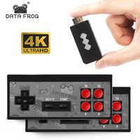 Consola de videojuegos 4K HDMI DATA FROG integrada en 568, Mini consola Retro de juegos clásicos, controlador inalámbrico con salida HDMI y reproductores duales