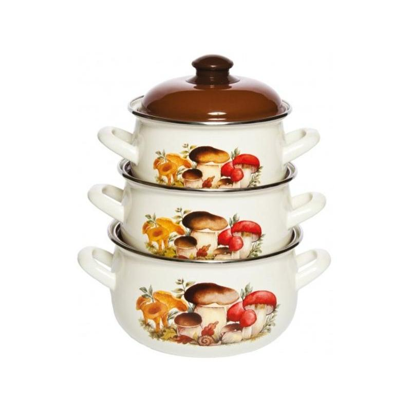 A Set Of pans Interos, Mushrooms, 6 items a set of pans interos gourmet 6 items