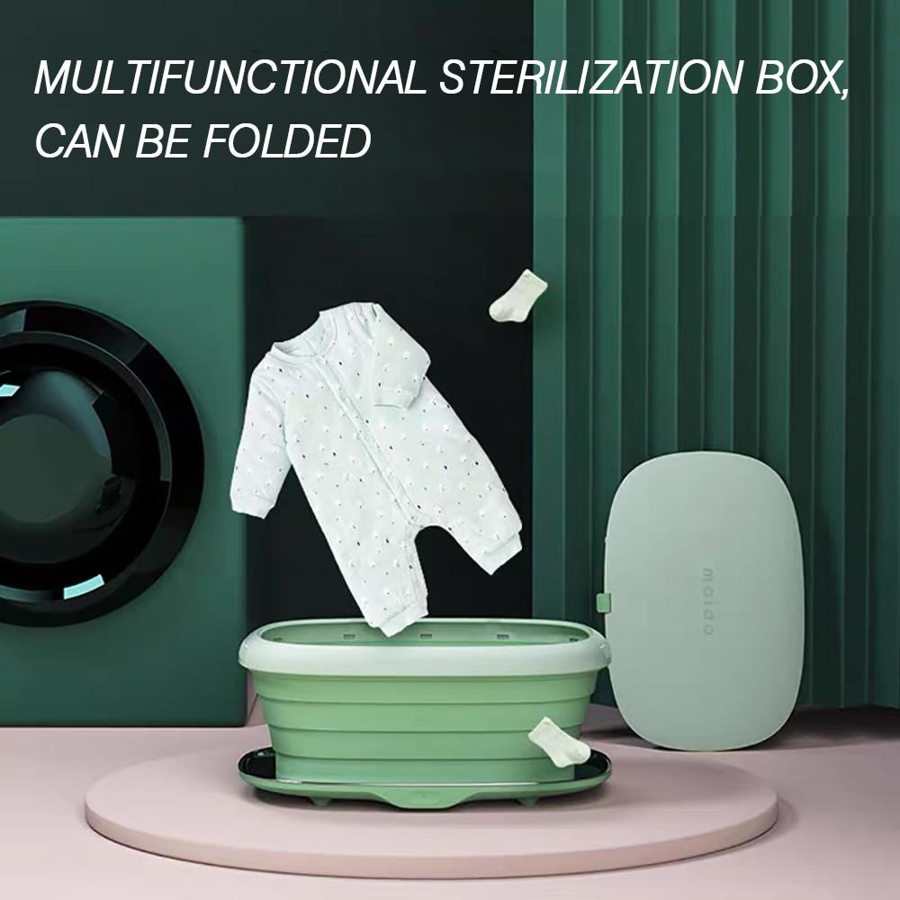 Foldable UV Sterlizer Box Dry Heat for Underwear Towel Clothing Phone Sterilizer Portable Multifunction Disinfect Light Machine