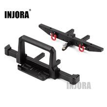 INJORA RC Auto TRX4 Klassische Metall Frontschürze mit Hinten Stoßstange für 1/10 RC Crawler Traxxas TRX-4 Upgrade Teile
