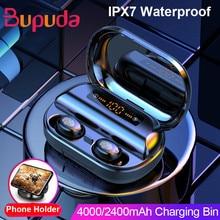 4000 mAh TWS Bluetooth Kopfhörer 5,0 9D Stereo Drahtlose Kopfhörer Touch Control IPX7 Wasserdichte Drahtlose Kopfhörer Power Bank