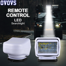 Reflektor LED 7 cal 50W pilot zdalnego sterowania 360 stopni obrót reflektor do ciężarówki Off road SUV łodzi morskich światło drogowe 1 sztuk