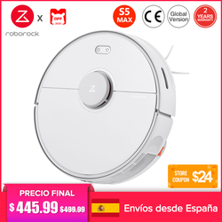 [PLAZA] Roborock S5 Max Robot Vacuum Cleaner EU Sweep Mop House Vacuum Cleaner 290ml Water Tank App Smart Control Alexa Support