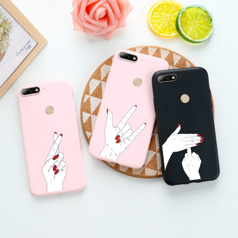 Candy Silicon Case For <font><b>Huawei</b></font> Y7 Y9 2019 Cases Anti-knock Cover For <font><b>Huawei</b></font> P8 P9 Lite Y3 Y5 Prime Y6 2017 2018 Honor 7A Covers image