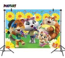 Fondo de fotografía de photourt 44 Gatti, Baby Shower, Fondo de fiesta de cumpleaños, gato, música, girasol, vinilo, accesorios para estudios fotográficos