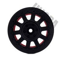 4PCS RC Rock Crawler Plastic 2.2 Beadlock Wheel Rim for 1/10 Axial SCX10 RR10 Wraith Yeti RC Car 5