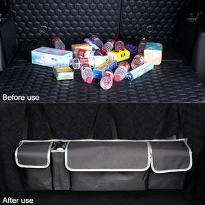 Image 2 - Adjustable Car Trunk Organizer Backseat Storage Bag High Capacity Multi use Oxford Car Seat Back Organizers Automobile Interior