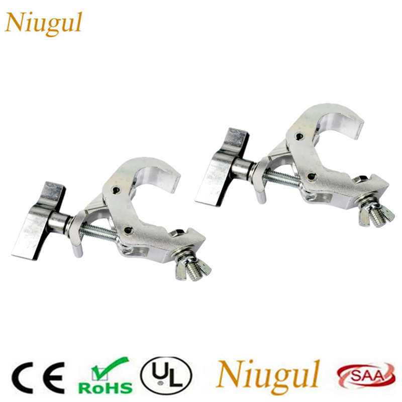 2pcs High Quality Universal Light Hook /6061 Aluminum Alloy Single Ring Clasp 40-52mm For Stage Light Big Light Clamp 120KG Load