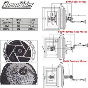 Image 3 - มอเตอร์ล้อ1000Wไฟฟ้าชุดจักรยาน500Wไฟฟ้าชุดจักรยานMXUSไฟฟ้าล้อ19Rเกียร์มอเตอร์Ebikeชุด