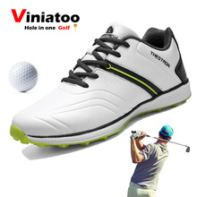 2020 Men Waterproof Sport Shoes for Golfer Outdoor Grass Anti Slip Golf Lightweight Comfortable Athletic Sneakers