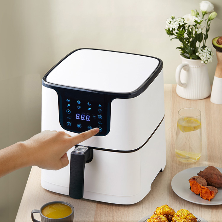 5.5L Smart Air Fryer Oven Electric Deep Fryer without Oil Home Toaster Pizza Cooker Dehydrator LED Touch French Fries Machine