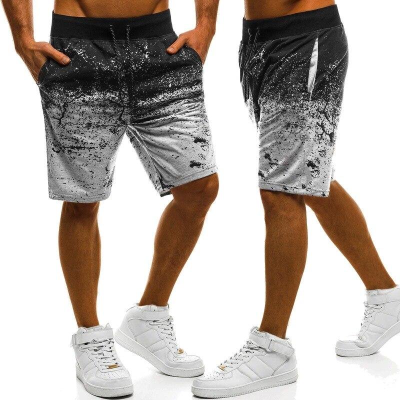 2020 Summer Men Casual Shorts Fashion Printed Sweat Shorts Joggers Men Sweatpants Streetwear Pantalones Cortos Hombre Plus Size