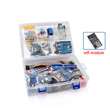 مجموعة بدء تشغيل البطاقة الأكثر اكتمالا لـ Arduino R3 نسخة مطورة من البرنامج التعليمي مع وحدة واي فاي ESP8266 للهدايا