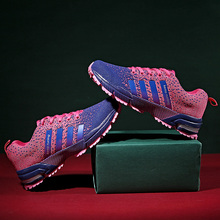 Minimalism Mens Lace-up Running Shoes Breathable Flyknit