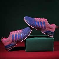 Minimalismus Mens Lace-up Laufschuhe Atmungs Flyknit Frauen Sneaker Non-slip Wearable Casual Sport Schuhe Liebhaber Größe 35-46