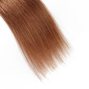 Image 4 - 30 Brown Human Hair Bundles Brazilian Straight Human Hair Weave Bundles 8 26 inch Ombre Burgundy Non Remy Hair Extension 1PC