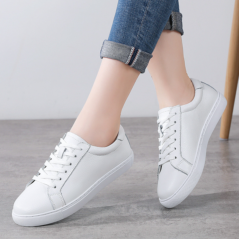 Clearance SaleDONGNANFENG White Shoes Vulcanized-Shoes Female Soft Girl Korean Genuine-Leather Women
