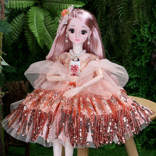 60cm Fashion Girl Doll Toy With Clothes And Shoes Simul Plastic Jointed DIY Smart Big Princess Doll Queen Set Girl Birthday Gift free shipping big discount rbl 484j diy nude blyth doll birthday gift for girl 4color big eye doll with beautiful hair cute toy