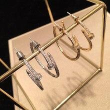 Korean  Personality Zircon Earrings luxury  hoop bohemian  indian  statement earrings for women  dangle earrings