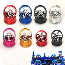 4Pcs  Aluminum Alloy Wheel 95012 Large Diameter Wheel Hubs/Tires Metal Wheels Spare Parts For Tamiya Mini 4WD Racing Car Model